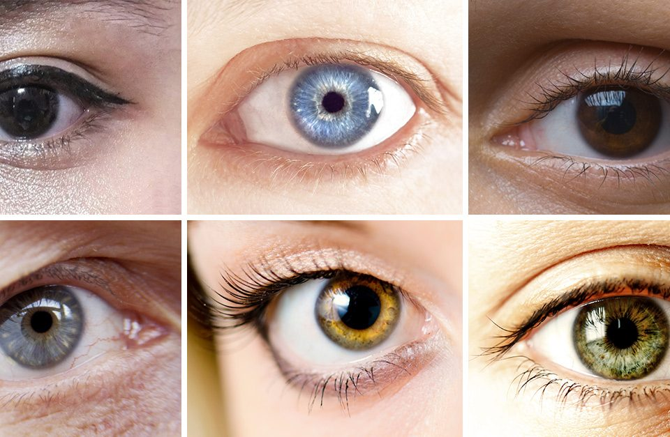 eye color collage
